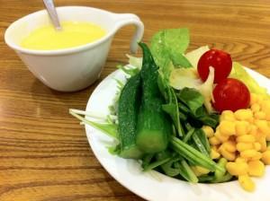 ダイエット中 外食 食べられるもの スープ サラダ