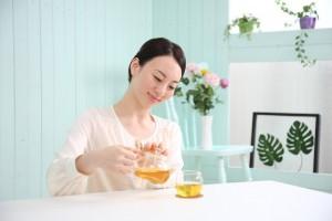 飲まなく茶 便秘解消効果 食物繊維 蓮の葉 エビス草の実