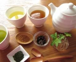 ダイエット 食事中 お茶 ポリフェノール 食物繊維